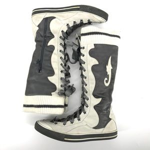 Diesel Vintage Suede Leather Lace-up Boots